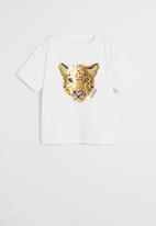 MANGO - T-shirt wild - off white