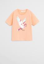 MANGO - T-shirt wild - peach