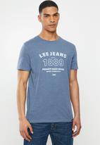Lee  - Premium denim tee - blue