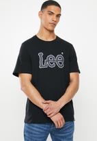 Lee  - Applique tee - black