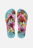 Havaianas - Kids slim floral - blue