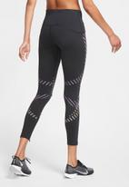 Nike - Womens 7/8's graphic running leggings - black