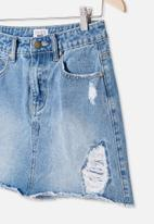 Free by Cotton On - Florence denim skirt - blue