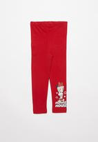 POP CANDY - Minnie Mouse leggings - red
