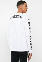 Diesel  - T-just-ls-t14 pullover -white