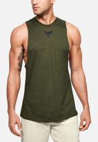 Under Armour - Project rock charged cotton tank - green