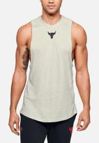 Under Armour - Project rock charged cotton tank - stone