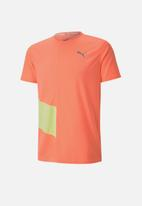 PUMA - Ignite ss tee - nrgy peach-fizzy yellow