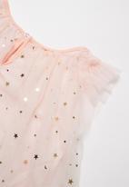 POP CANDY - Girls unicorn sparkle dress and aliceband set- pink