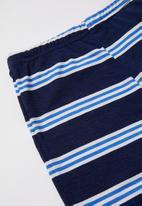 POP CANDY - Boys shorts & tee pj set - navy