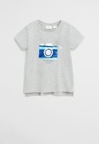 MANGO - T-shirt lolly - grey