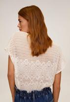 MANGO - T-shirt louise - light beige