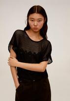 MANGO - T-shirt louise - black