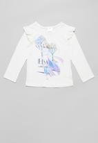 POP CANDY - Girls Frozen frill tee - white