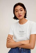 MANGO - T-shirt ilustra - white