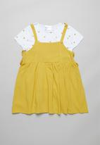 POP CANDY - Dress & tee set - yellow & white