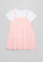 POP CANDY - Dress & tee set - pink & white