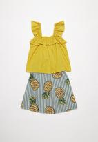 POP CANDY - Girls top and skirt set - multi