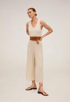 MANGO - Verdi jumpsuit- light beige