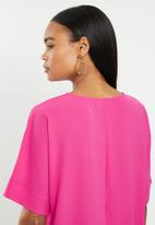 edit - Oversized wide sleeve shell - pink
