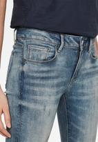G-Star RAW - 3301 mid skinny ripped ankle jeans - blue