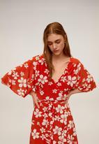 MANGO - Dotty dress - red & white