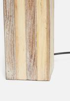 Sixth Floor - Wood panel lamp base - natural