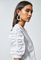 Superbalist - Puff short sleeve blouse - white