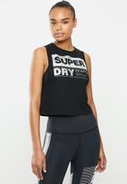 Superdry. - Streetsport crop tank - black