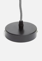 Sixth Floor - Metro pendant - black