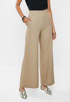 edit - Linen wide leg - taupe