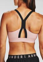 Under Armour - Armour mid impact sportstyle bra - pink