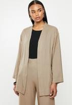 edit - Linen shacket - taupe