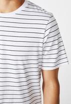 Cotton On - Tbar premium crew - black & white
