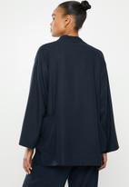 edit - Linen Shacket- navy
