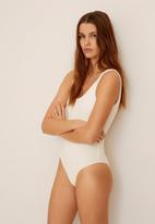 MANGO - Swimsuit valentin - white