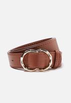 Rubi - Double circle belt - tan