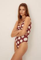MANGO - Swimsuit buckle - red