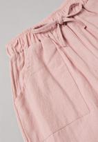 POP CANDY - Girls shorts and tee set - white & pink