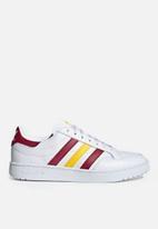 adidas Originals - Team Court - ftwr white / collegiate burgundy / wonder glow
