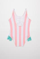 POP CANDY - Girls watermelon swimsuit - white & pink