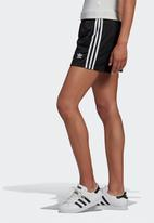 adidas Originals - 3 Stripe shorts - black & white