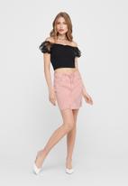 Jacqueline de Yong - Rosa life short destroy skirt - pink