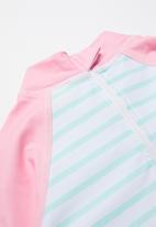 POP CANDY - Girls swimsuit & swim cap set - blue & pink