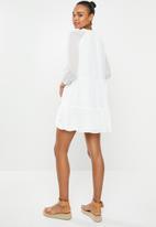 MILLA - Pie crust mini dress - ivory