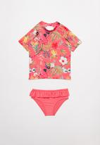 POP CANDY - Girls floral swimset - pink