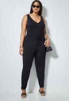 Superbalist - Low V-neck bodysuit - black