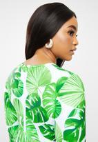Bacon Bikinis - Long sleeve swimsuit - green & white