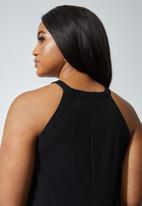 Superbalist - Rib high neck bodycon - black