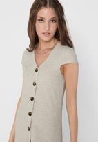 ONLY - Nella short sleeve dress - stone